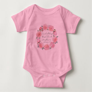Philippians 4:13 – I Can Do All Things - Clothing Baby Bodysuit