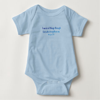Philippians 4:13 – I Can Do All Things - Onsie Baby Bodysuit