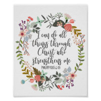 Philippians 4:13 I can do all things Poster