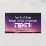 Philippians 4:13 I CAN DO ALL THINGS Scripture Business Card