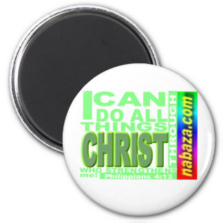 Philippians 4 13 I can do all things thru CHRIST Magnets