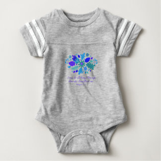 Philippians 4:13 – I Can Do All Things - Verse Baby Bodysuit