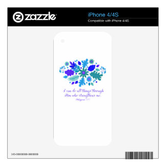 Philippians 4:13 – I Can Do All Things - Verse Skin For iPhone 4
