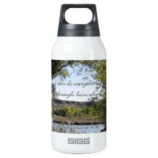 Philippians 4:13 I can do everything through Him.. Thermos Bottle