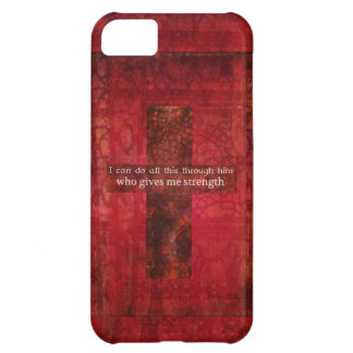 Philippians 4:13 inspirational Scripture iPhone 5C Cover