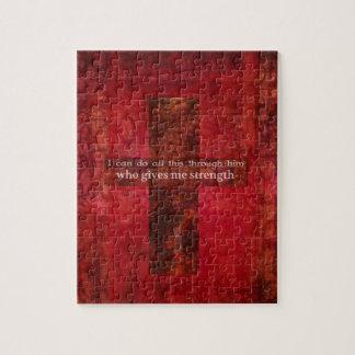 Philippians 4:13 inspirational Scripture Jigsaw Puzzle
