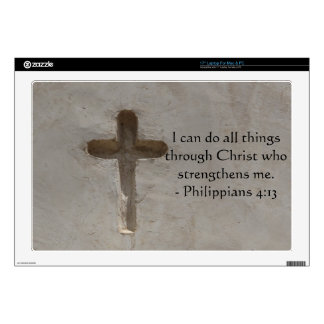 """Philippians 4:13 inspiring Bible verse 17"""" Laptop Skins"""