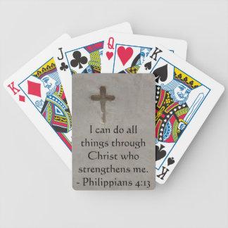Philippians 4:13 inspiring Bible verse Bicycle Playing Cards
