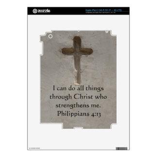 Philippians 4:13 inspiring Bible verse iPad 3 Decals