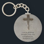 "Philippians 4:13 inspiring Bible verse Keychain<br><div class=""desc"">I can do all things through Christ who strengthens me.  Philippians 4:13</div>"