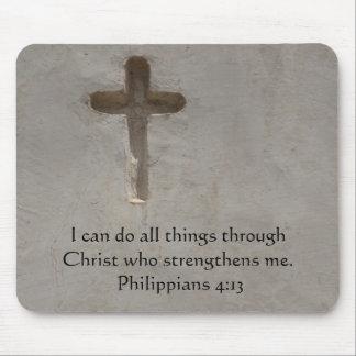 Philippians 4:13 inspiring Bible verse Mouse Pad
