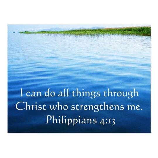 philippians 413 inspiring bible verse postcard zazzle