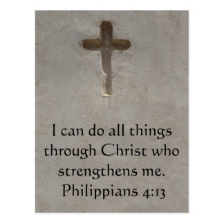 Philippians 4:13 inspiring Bible verse Postcards