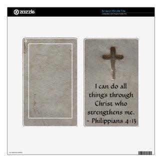 Philippians 4:13 inspiring Bible verse Kindle Fire Skins