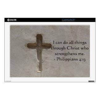 "Philippians 4:13 inspiring Bible verse Skin For 17"" Laptop"