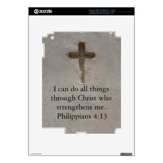 Philippians 4:13 inspiring Bible verse Decals For iPad 2