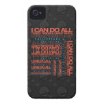 Philippians 4:13 iPhone 4 Barely There/Vibe Case iPhone 4 Case-Mate Case