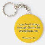 Philippians 4:13 key chain