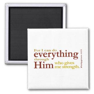 Philippians 4 13 fridge magnet
