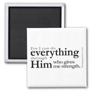 Philippians 4 13 magnet