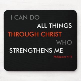 Philippians 4:13 Mouse mat