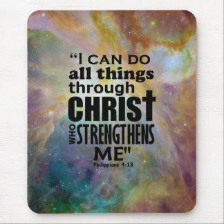 Philippians 4:13 mouse pad