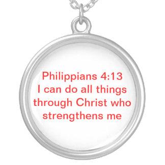 Philippians 4:13 necklace