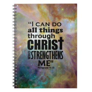 Philippians 4:13 notebook