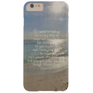 Philippians 4:13 Peace Bible Verse Beach Christian Barely There iPhone 6 Plus Case