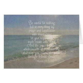 Philippians 4:13 Peace Bible Verse Beach Christian Card