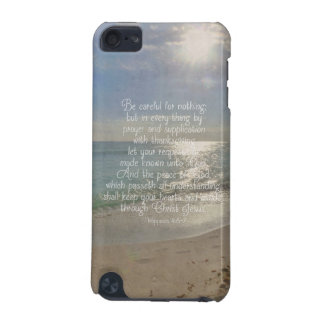 Philippians 4:13 Peace Bible Verse Beach Christian iPod Touch 5G Cover