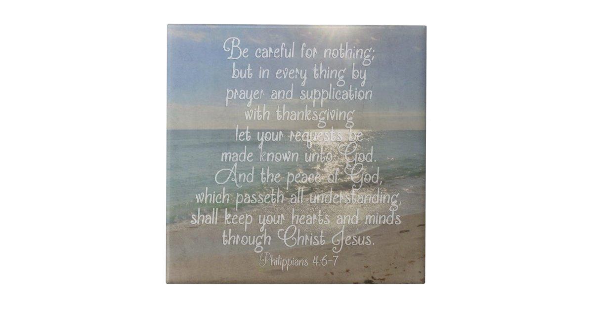 Philippians 4 13 Peace Bible Verse Beach Christian Ceramic