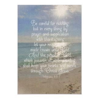 Philippians 4:13 Peace Bible Verse Beach Christian Invitations