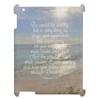 Philippians 4:13 Peace Bible Verse Beach Christian iPad Case