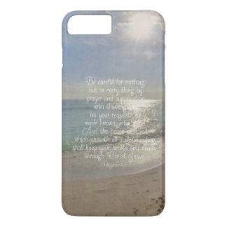 Philippians 4:13 Peace Bible Verse Beach Christian iPhone 8 Plus/7 Plus Case