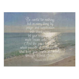 Philippians 4:13 Peace Bible Verse Beach Christian Post Card
