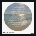 """Philippians 4:13 Peace Bible Verse Beach Christian Wall Sticker<br><div class=""""desc"""">Beautiful landscape ocean beach scene with the early morning sun,  and a Bible verse Christian scripture about the Peace of God, .   7 And the peace of God,  which passeth all understanding,  shall keep your hearts and minds through Christ Jesus.</div>"""