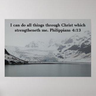 Philippians 4:13 poster print
