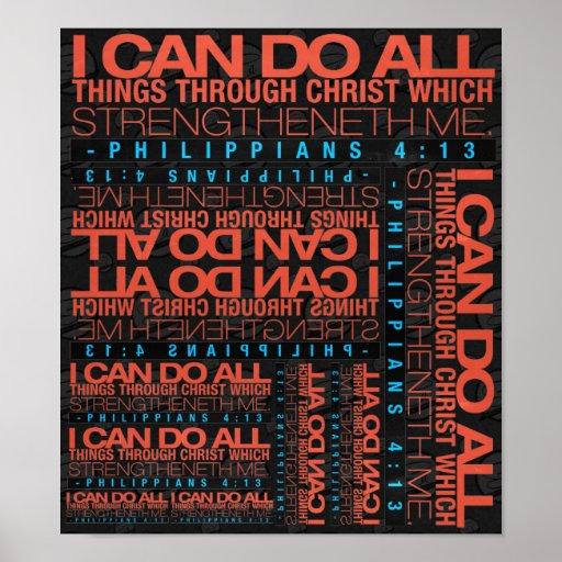 Philippians 4:13 Poster