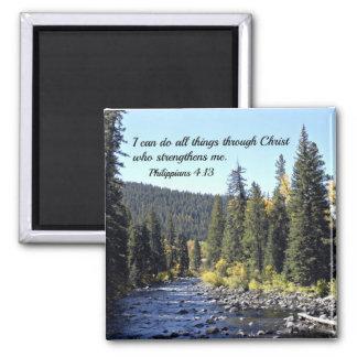Philippians 4:13 refrigerator magnet