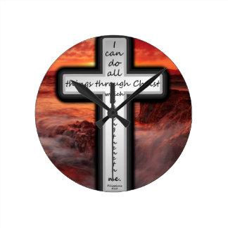 Philippians 4:13 round clock