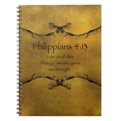 Philippians 4 13 spiral notebook zazzle for Philippians 4 13 coloring page