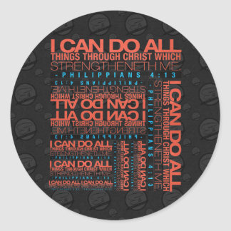 Philippians 4:13 Stickers