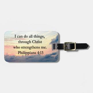 PHILIPPIANS 4:13 SUNRISE DESIGN BAG TAG
