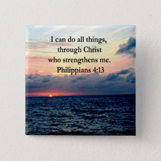 PHILIPPIANS 4:13 SUNRISE DESIGN BUTTON