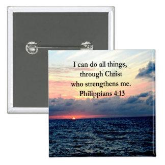 PHILIPPIANS 4:13 SUNRISE DESIGN BUTTON