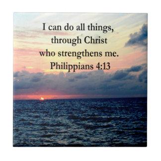 PHILIPPIANS 4:13 SUNRISE DESIGN CERAMIC TILE
