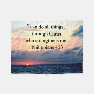 PHILIPPIANS 4:13 SUNRISE DESIGN FLEECE BLANKET