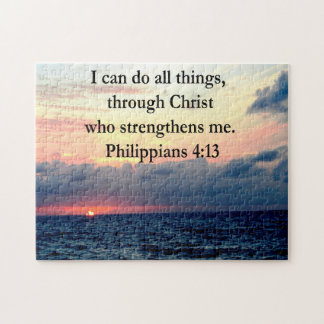PHILIPPIANS 4:13 SUNRISE DESIGN JIGSAW PUZZLE
