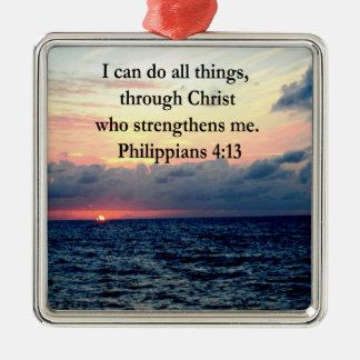 PHILIPPIANS 4:13 SUNRISE DESIGN METAL ORNAMENT